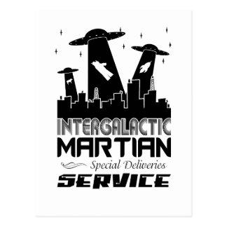 City Scape Martian Delivery Postcard