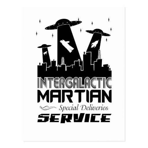 City Scape Martian Delivery Post Cards