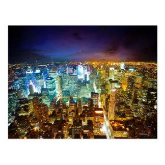 city scape postcard