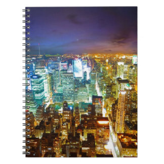 city scape spiral notebook