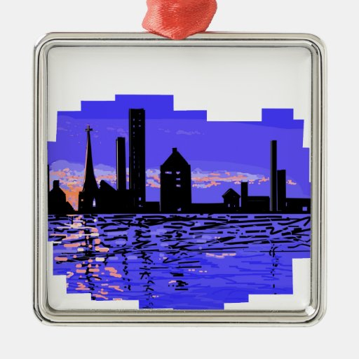 City Scape tshirts and other products Ornament
