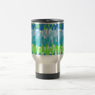 City Scape with High Rise Buildings Abstract 15 Oz Stainless Steel Travel Mug