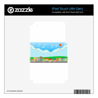 City scene at daytime decal for iPod touch 4G
