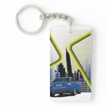 City Scene Keychain