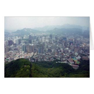 city seoul aerial cards