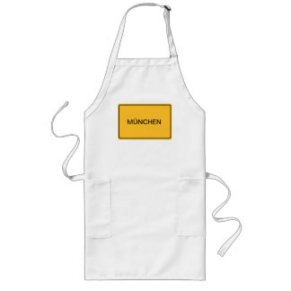 City sign for own text long apron