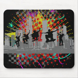 City Skateboarding Mouse Pad