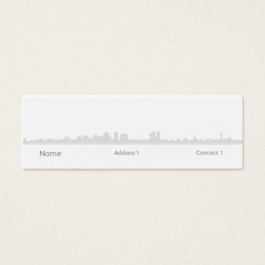 City - Skinny Mini Business Card