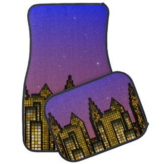"""City & Sky """"Metropolis Nights"""" Car Mats Floor Mat"""