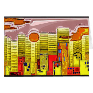 City Skyline 4 Greeting Card
