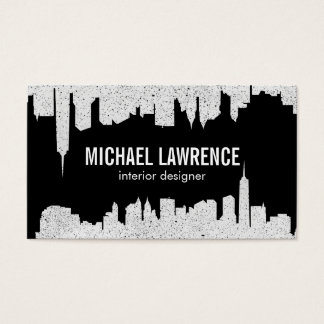 City Skyline | Abstract (speckled) Business Card
