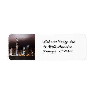 City Skyline Address Labels