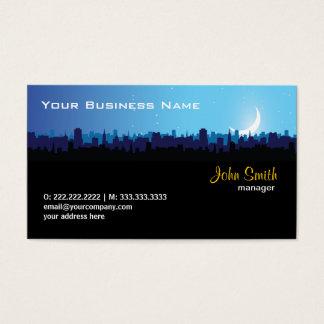 City Skyline at Night business card