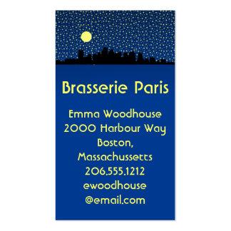 City Skyline Business Cards Boston