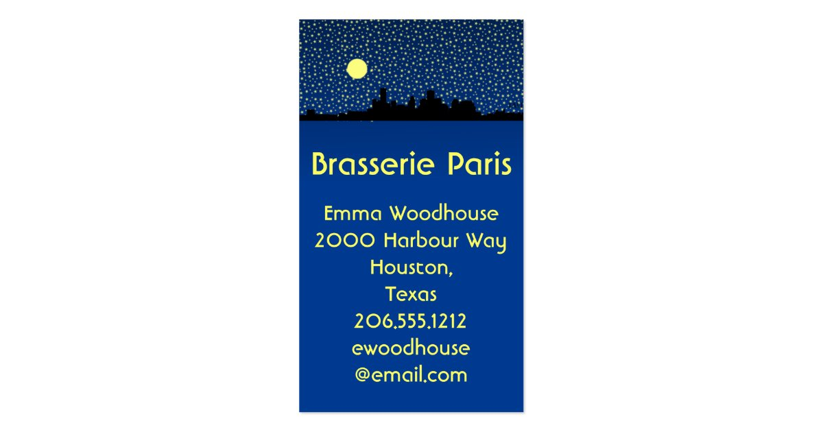 City skyline business cards houston texas zazzle for Houston business cards