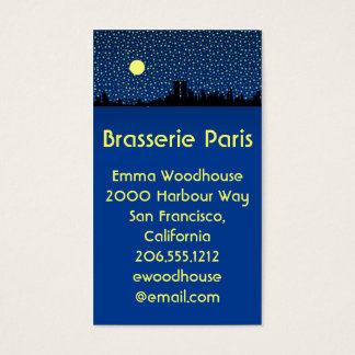 City Skyline Business Cards San Francisco