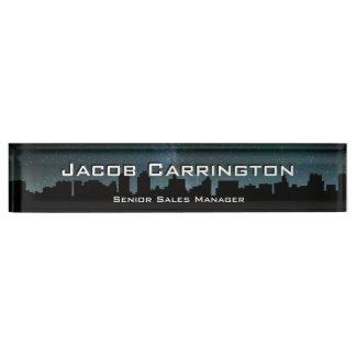 City Skyline Desk Name Plate