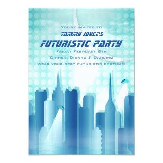 "City Skyline Futuristic Party Invitation 4.5"" X 6.25"" Invitation Card"