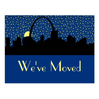 City Skyline New Address Postcard St. Louis
