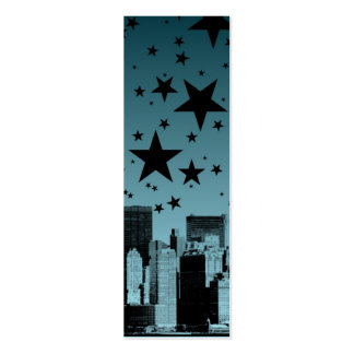 City Skyline Night Double-Sided Mini Business Cards (Pack Of 20)