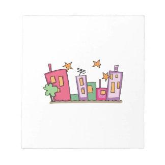City Skyline Note Pads