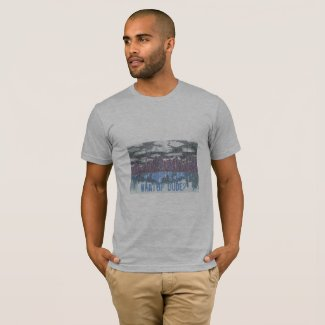 City Skyline on T-Shirt with What Up Dude funny