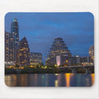 City Skyline Reflects Into Lady Bird Lake Mouse Pad