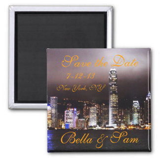 City Skyline Save the Date Magnet