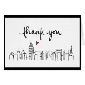 City Skyline with loving thanks design Greeting Card
