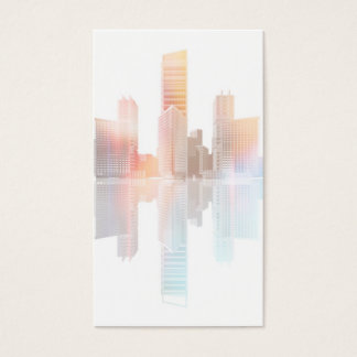 City skyscrapers and office buildings business card