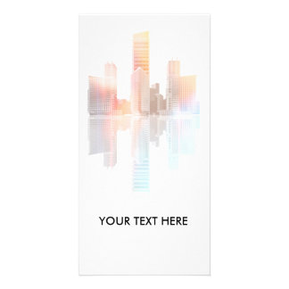 City skyscrapers and office buildings card