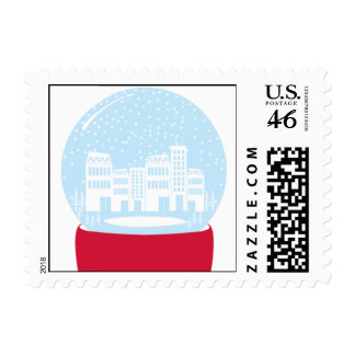 City Snow Globe Stamps