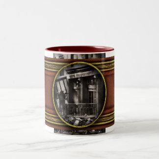 City - South Street Seaport - Bingo 220 Two-Tone Coffee Mug
