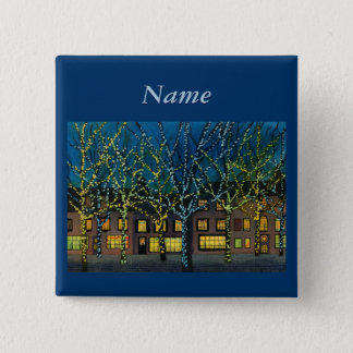 City Square at Christmas Pinback Button