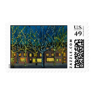 City Square at Christmas Stamps