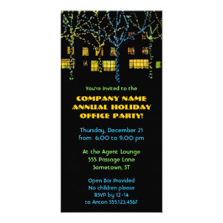 City Square Holiday Office Party Photo Card