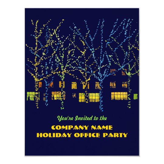City Square Office Holiday Party Invitations