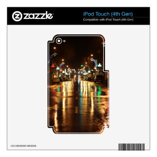 City street at night, Kingston, Ontario. Decal For iPod Touch 4G