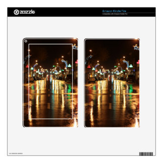 City street at night, Kingston, Ontario. Skins For Kindle Fire