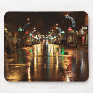 City street at  night mouse pad