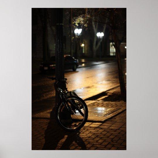City street at  night poster