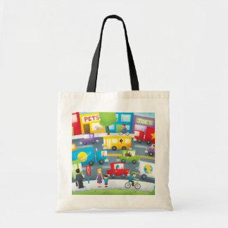City Street Canvas Bags
