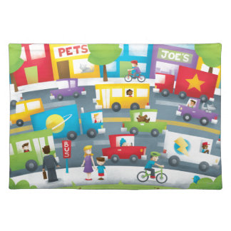 City Street Cloth Placemat
