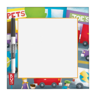 City Street Dry-Erase Board