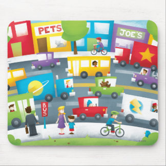 City Street Mouse Pad