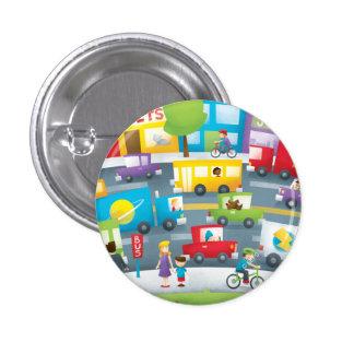 City Street Pinback Button