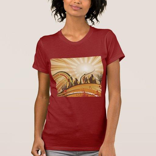City Swirls Ladies Petite T-Shirt