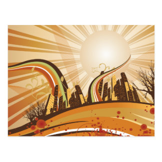 City Swirls Postcard