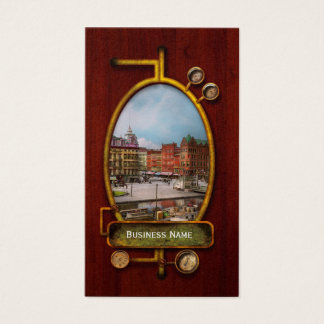 City - Syracuse NY - The Clinton Square Canal 1905 Business Card