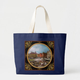 City - Syracuse NY - The Clinton Square Canal 1905 Large Tote Bag